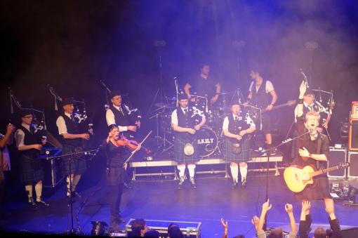 Celkilt avec Highland Dragoons Pipe Band Strasbourg