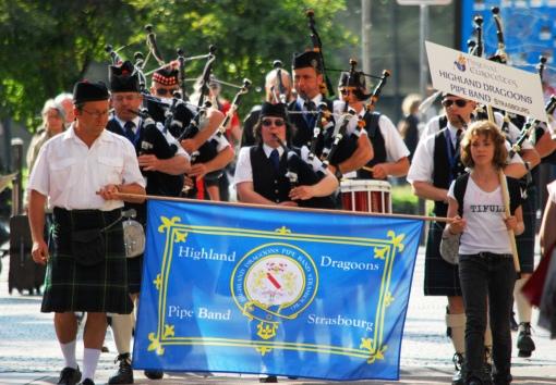Pipe Band Strasbourg - Parade Euroceltes Strasbourg