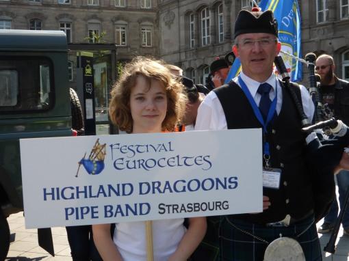 Pipe Band Strasbourg parade Euroceltes